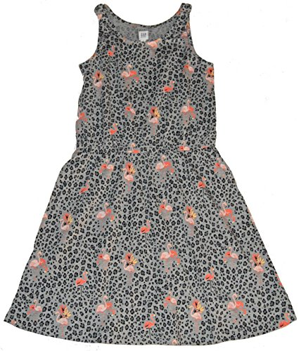 GAP Kids Girls Gray Pink Leopard Flamingo Knit Tank Sun Dress XL 12