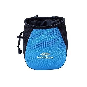 Aesy Tiza Magnesio en Polvo Bolsa, con Cordón Ajustable Cinturón, Almacenamiento para Escalada Gimnasio (Azul): Amazon.es: Deportes y aire libre