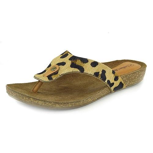 Kick Footwear - Donna Moda Estate Spiaggia Infradito Sandali Scarpe - UK3 / EU36, Nero