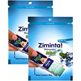 Ziminta Sugar Free Mint Mouth Freshener Easily Soluble Disintegrating Strips - 30 Strips (Mint Flavour, Blue) - Pack of 2