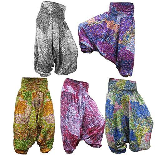 Panasiam Aladin Pants V de diseño, Oferta Especial, pequeñas–Fregadero, Super Calidad, suave natural plástico, no destiñe, cabe 34a 42(S–L) blauton