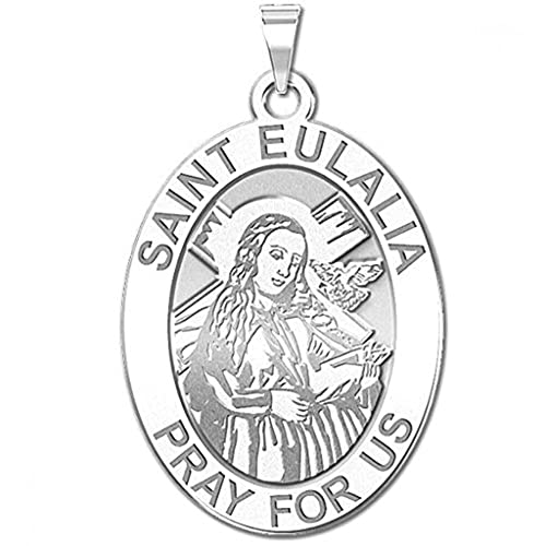 Amazon.com: Saint Eulalia Oval medalla Religiosa ...