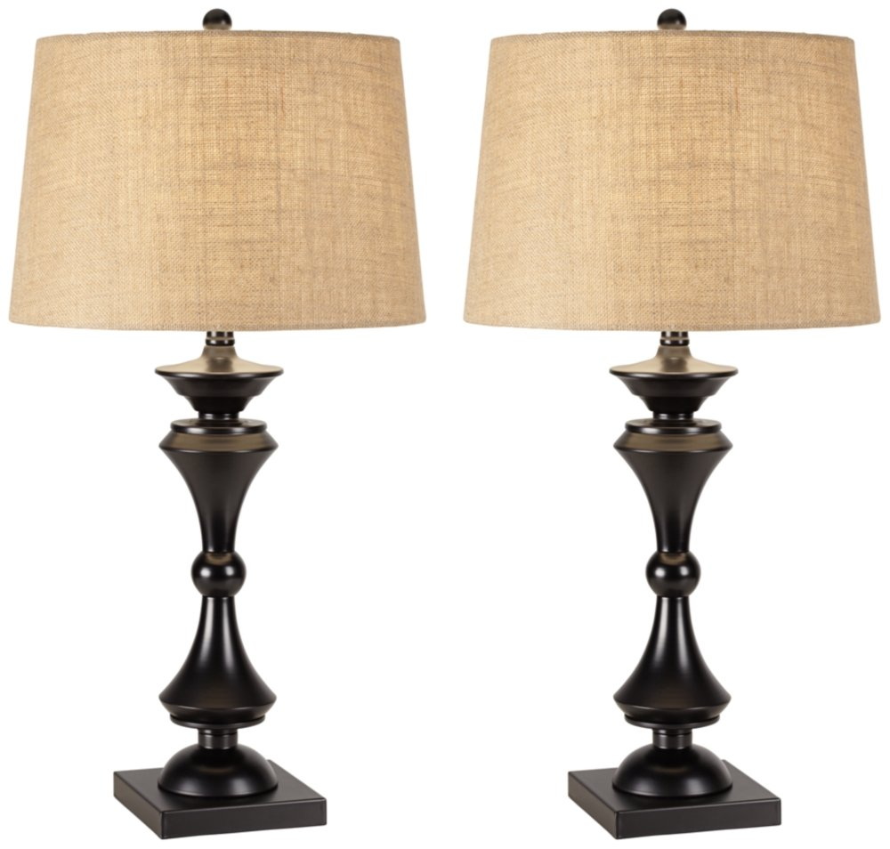 Eliot Bronze Industrial Table Lamp Set of 2 by Regency Hill