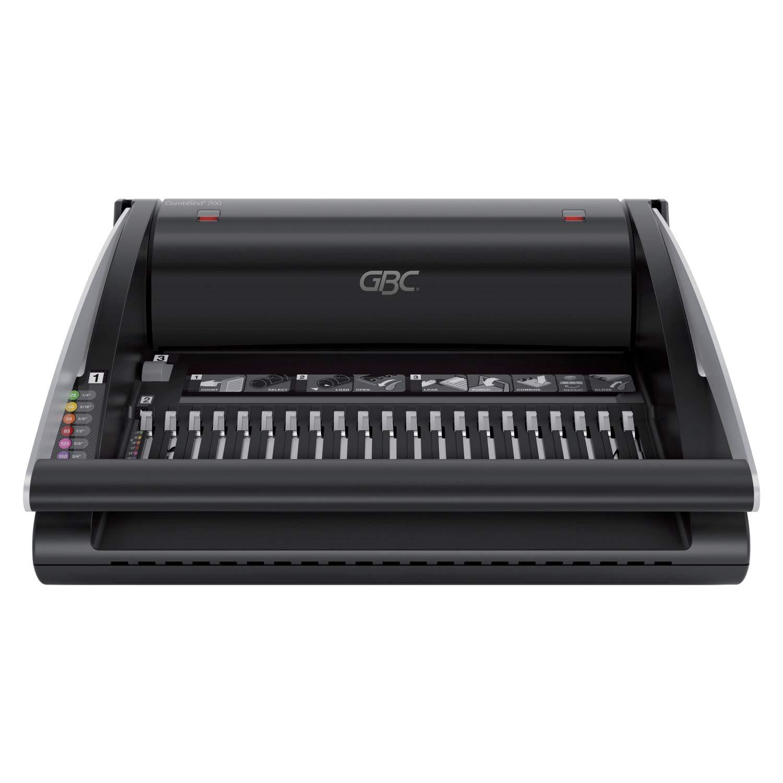 GBC CombBind C100 Binding Machine 160 Sheet Binding Capacity 4401843 Black 9 Sheet Punch Capacity A4