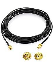 Eightwood SMA Macho a SMA Bulkhead Jack Pigtail Cable RG174 16.5ft 500cm para Homematic CCU2 CC1101 Raspberry Pi Hsdpa Huawei 2G 3G 4G LTE Antena UMTS Mobile Broadband