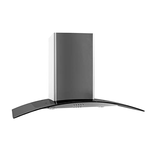 Klarstein GL90WSB Cappa Aspirante con rivestimento in vetro e ...