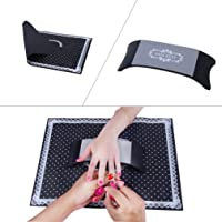 Elite99 Plastic & Silicone Nail Art Cushion Pillow Salon Hand Holder Nail Arm Rest Washable Manicure Accessories By Black