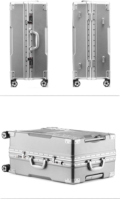 SHINING KIDS Equipaje Duro Shell Trolley Caso Scratch-Resistente Marco De Aluminio Contraseña Maleta Innovadora Caja De Levantamiento Manija 28 En,Black: Amazon.es: Deportes y aire libre