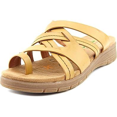 BareTraps Womens Cassy Split Toe Casual Strappy Sandals Auburn Size 5 0