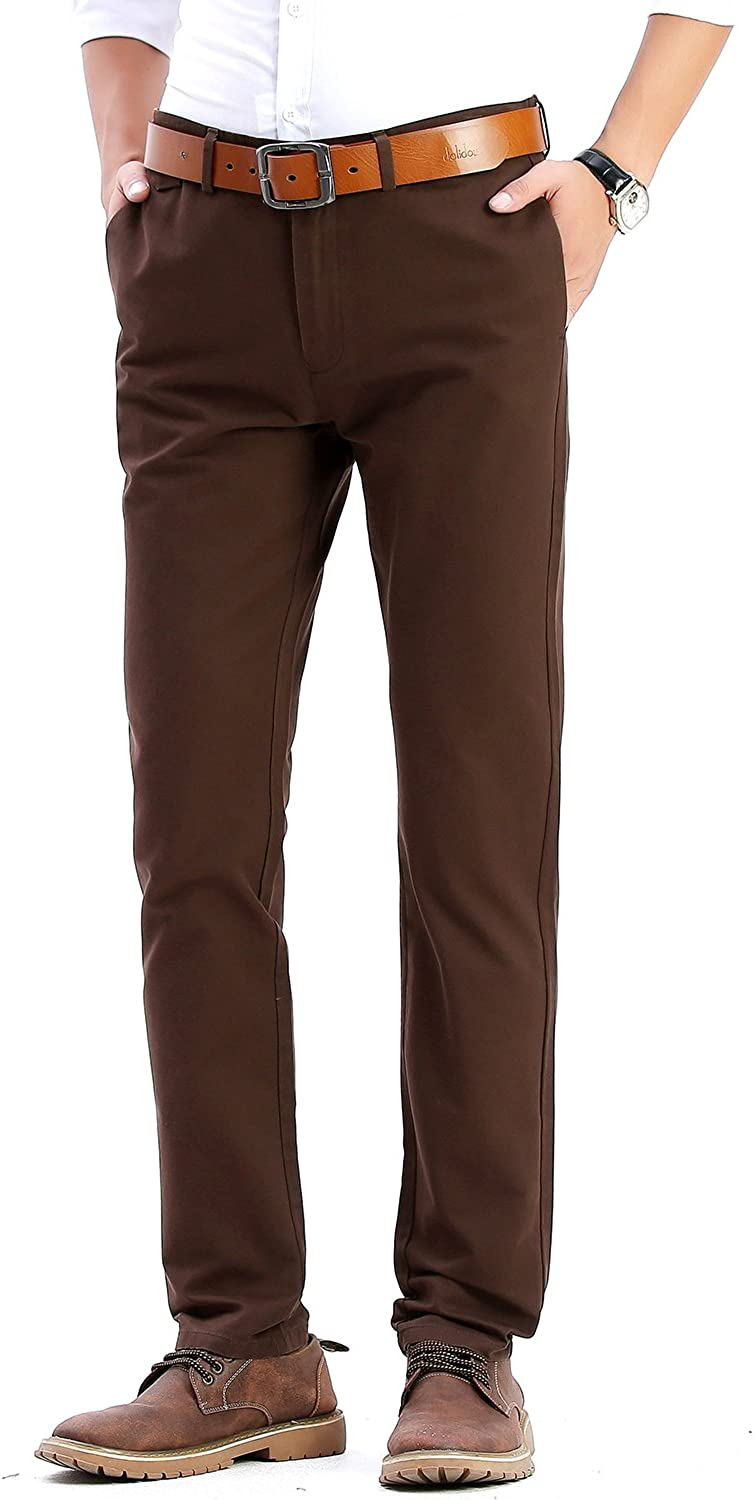 INFLATION Men's Stretchy Slim Fit Casual Pants, 100% Cotton Flat Front  Trousers Dress Pants for Men at Amazon Men's Clothing store