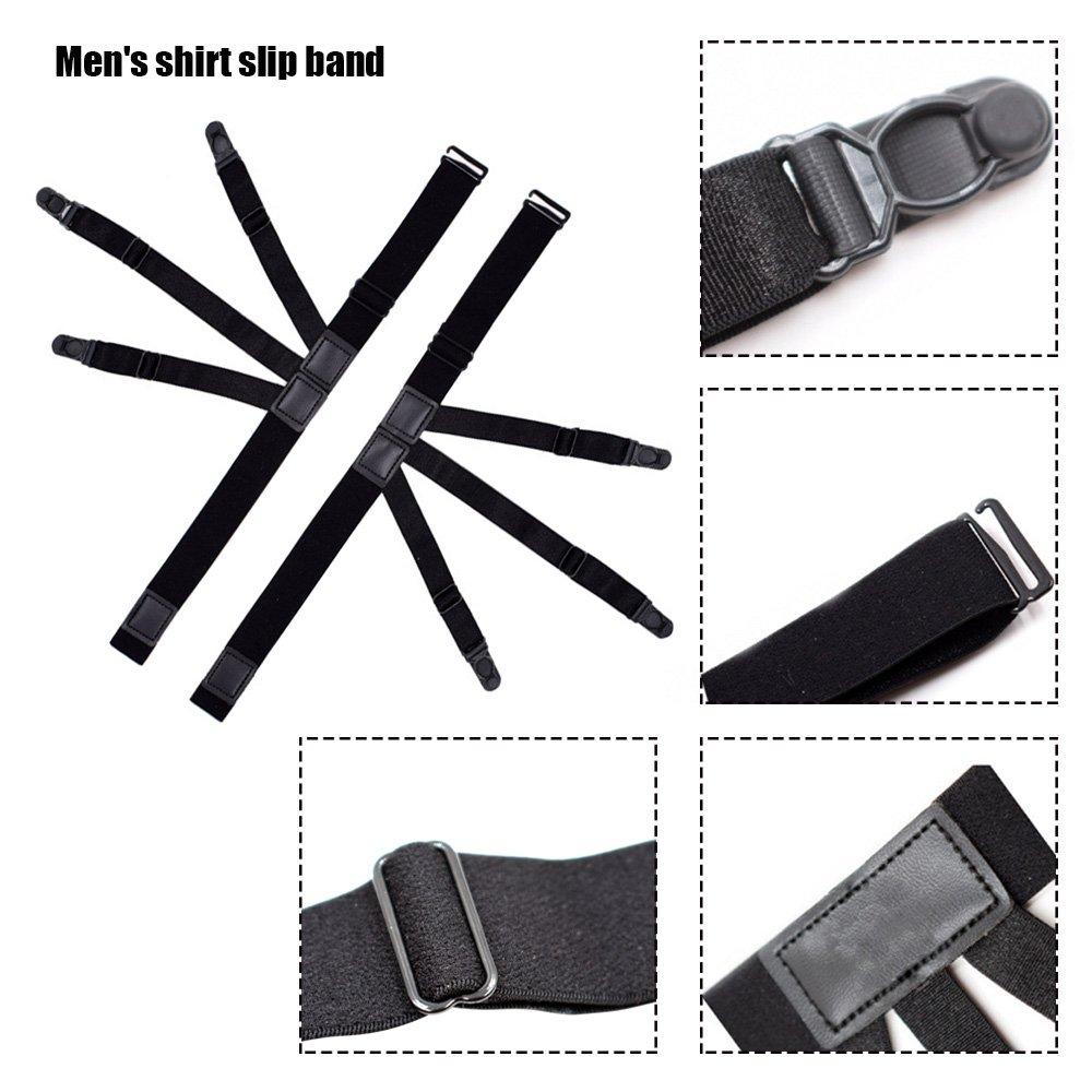 ligas Ligas con abrazaderas de bloqueo antideslizantes para militares polic/ía Yuccer Estancia de la camisa de los hombres