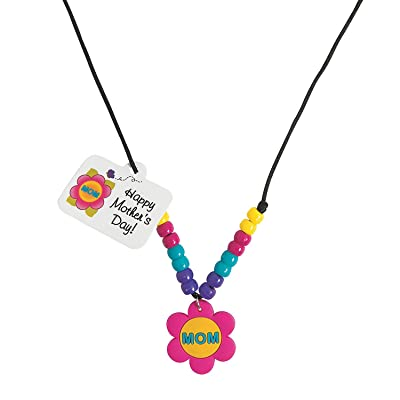 Beaded Mom Necklace Craft Kit -12 - Crafts for Kids and Fun Home Activities: Toys & Games