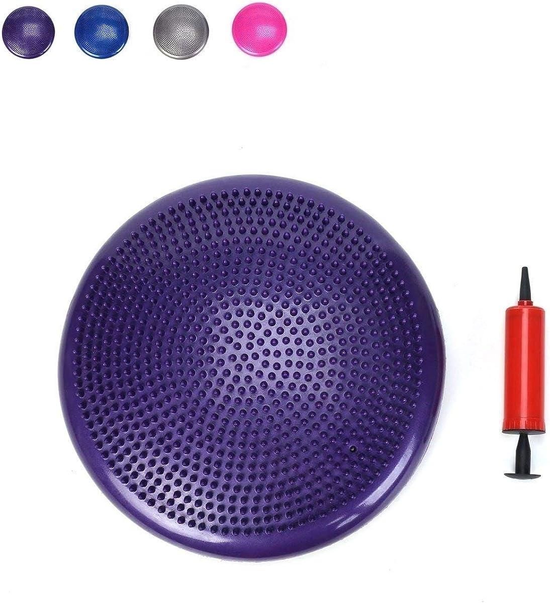 Balance Stability Disc Ball Chair Air Wobble Purple
