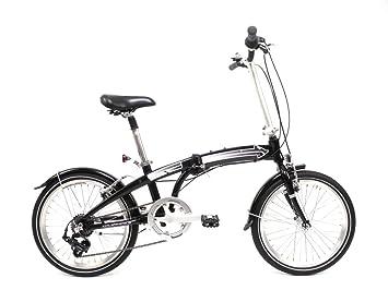 50.8 cm pulgadas ruedas bicicleta plegable plegable Alu Bike Shimano 7 velocidades de camping negra con