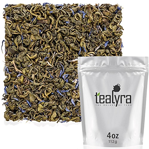 Tealyra - Green Earl Grey Cream - Loose Leaf Green Tea with Bergamot Flavor - Aromatic Blend - Caffeine Medium - 112g (4-ounce)