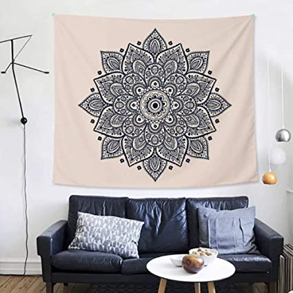 D Little Tapestry Wall Hanging Mandala Tapestry Indian Wall Décor Mysterious Tapestry/Bedsheet Blanket for Living Room,Bathroom,51.18