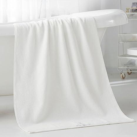 Mercely 100% algodón toalla de baño ultra suave súper absorbente toallas blancas cómodas toallas turcas de hotel ...