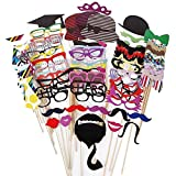 Wocst Newest Photo Booth Props-76 Piece DIY Kit for Birthday Party, Wedding ...