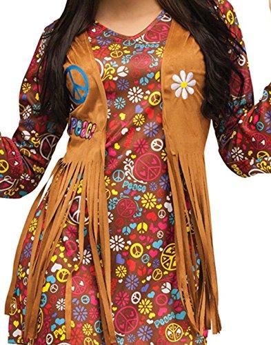 3a48c12e2a Fun World Costumes Women's Peace Love Hippie Adult Costume