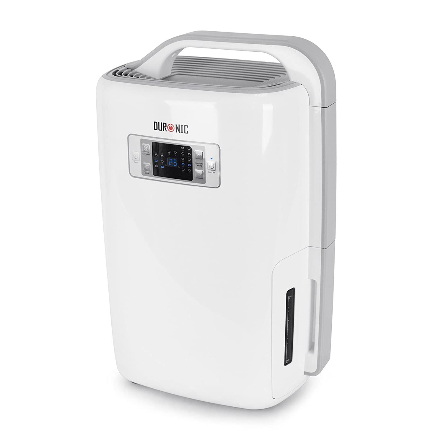 Duronic DH20 Dehumidifier 20 Litre Machine with Timer - Home Mould/Damp and Moisture Remove - Perfect for Your Home | School | Office | Caravan | Garage - Efficient 320W