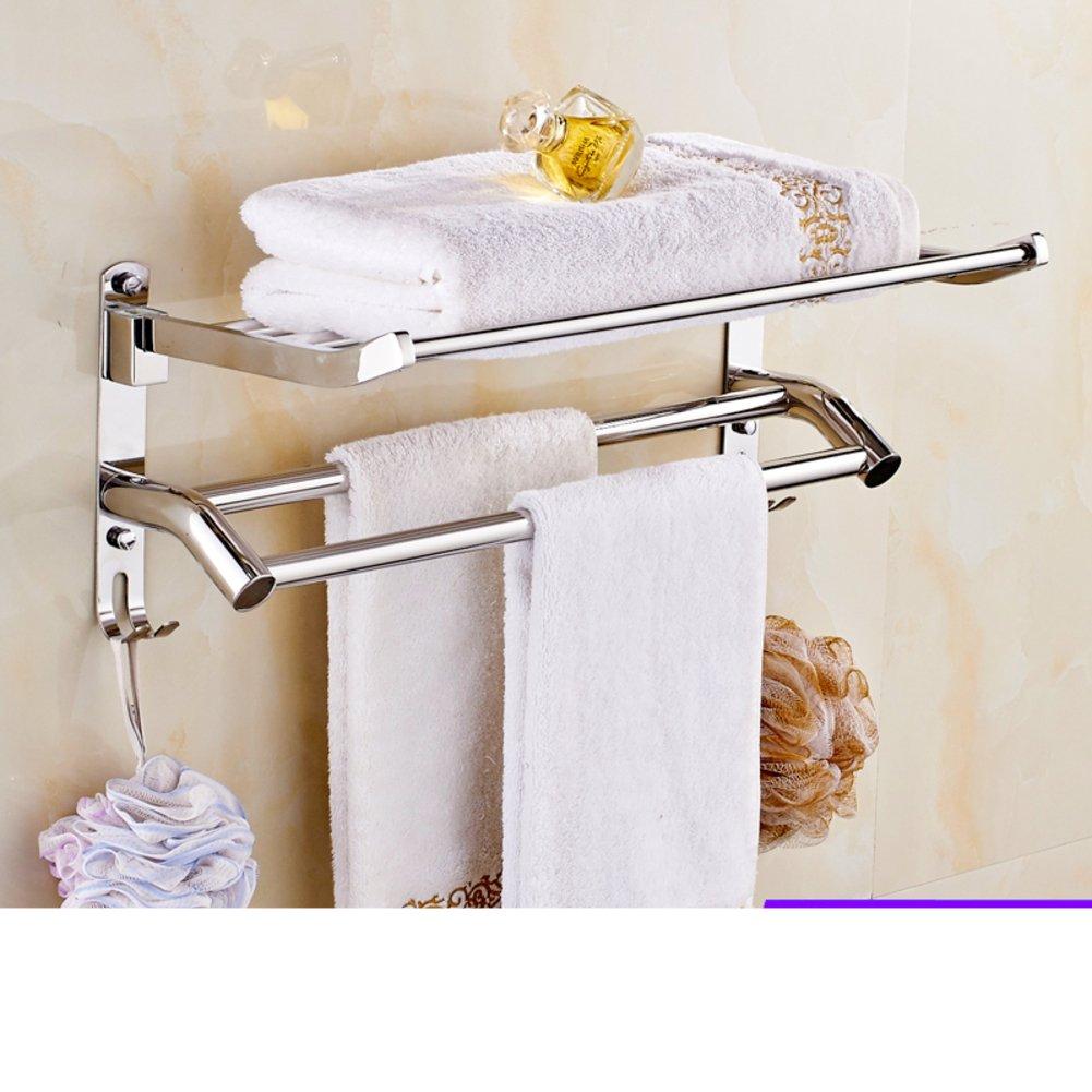 Durable modeling stainless steel basket towel rack for Bathroom accessories racks