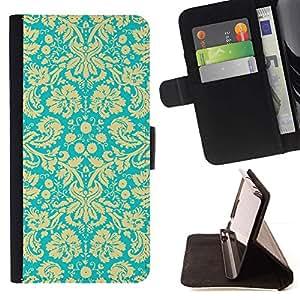 Momo Phone Case / Flip Funda de Cuero Case Cover - Patrón Royal Golden Papel pintado retro de la vendimia - Samsung Galaxy S6 Active G890A