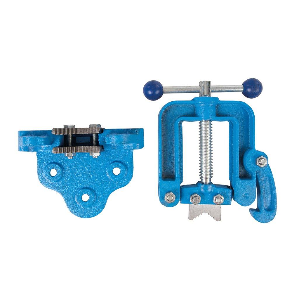 60 mm blau Silverline 609150 Rohrrschraubstock 12