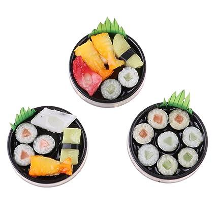 Homyl 3 Pezzi Piatto Cibo Giapponese Sushi Piattino Cugini ...