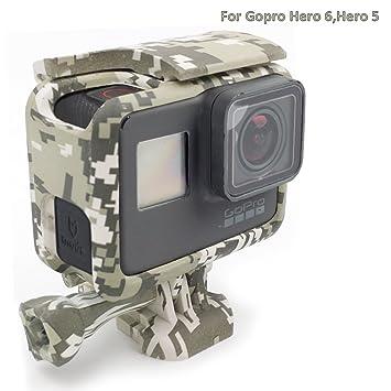 Para GoPro Hero 5 Carcasa de la cámara stock Accesorios Carcasa del marco del camuflaje