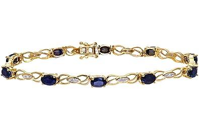 Naava Bracelet PBC1810 Femme Or jaune (9 carats) 7.4 Gr Saphir Diamant 6.36 Cts