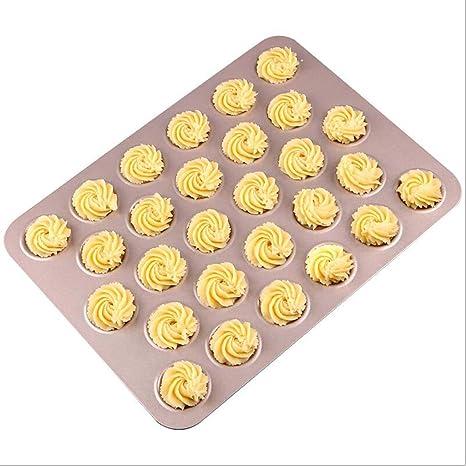 Molde para horno Macaron, 28 tazas, bandeja para hacer galleta