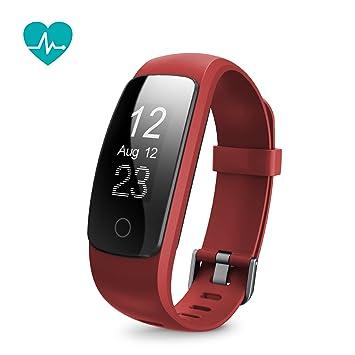 Runme Tracker dActivité avec Cardiofréquencemètre, Bracelet Connecté Bluetooth 4.0 Montre Smart pour Sport