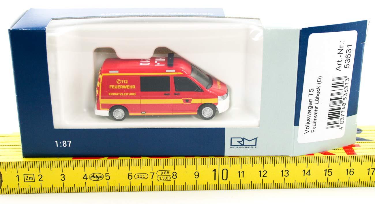 Rietze 53631 1:87 Volkswagen T5 /´10 Feuerwehr L/übeck