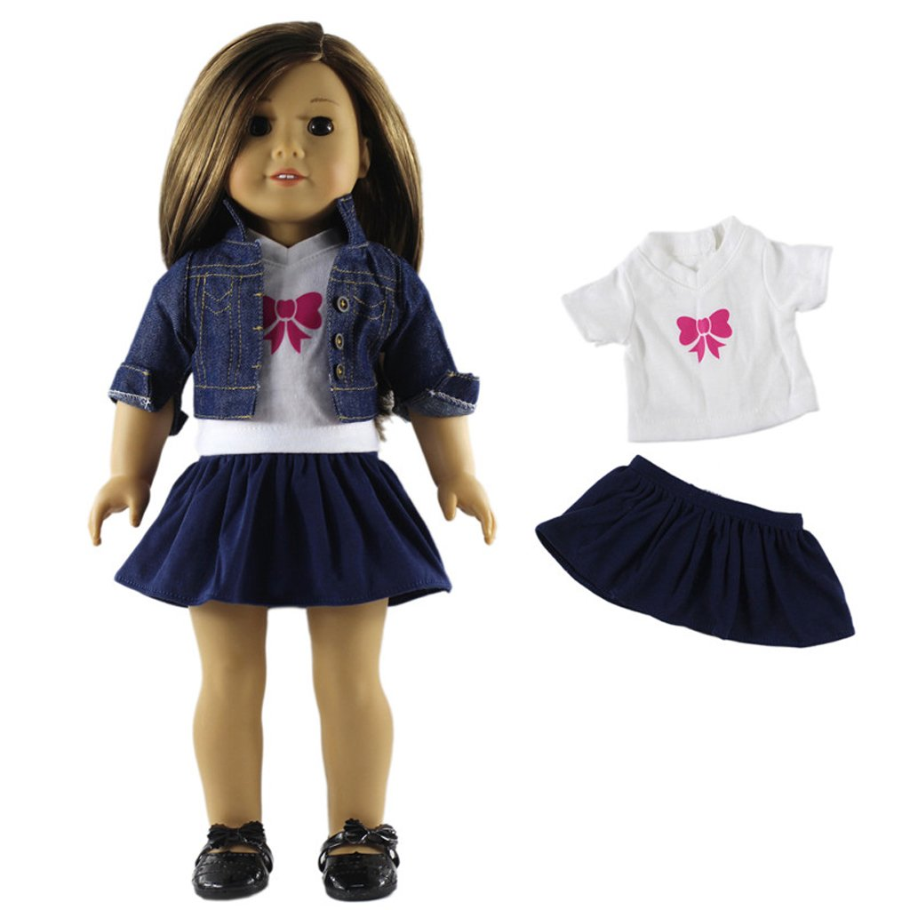 White MagiDeal 18inch Fashion Doll Outfits Princess Dress for Dolls