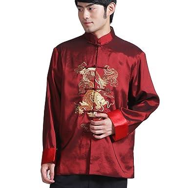 602bc5c71 Amazon.com: ZooBoo Chinese Clothing Tang Suit - Traditional China Costume  Martial Arts Tangzhuang Kung Fu Jacket Dragon Totem Uniform: Clothing