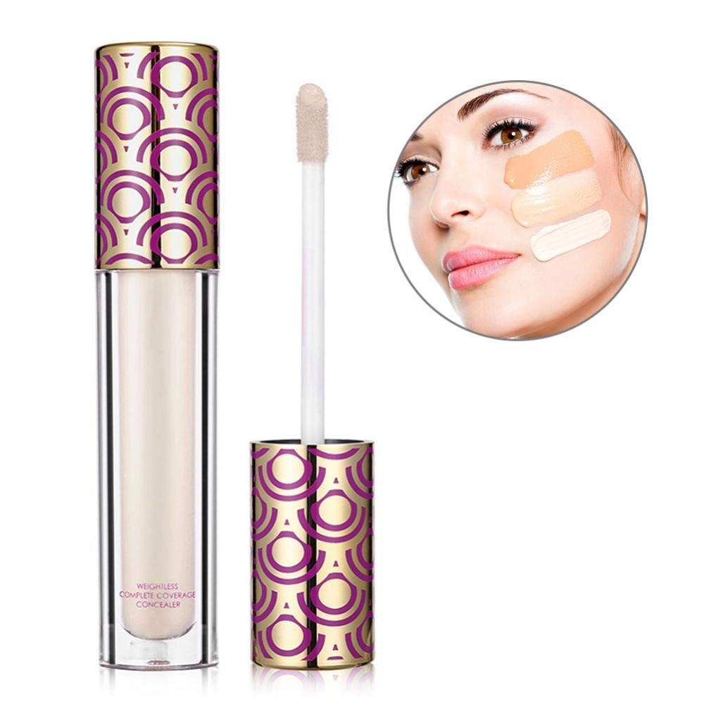 High Moisturizing Concealer Makeup Face Contour Liquid Blemish Flaw Cover for All Skin Type (2) Brrnoo