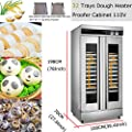 32 Trays Dough Heater Proofer Cabinet With Clear Door Stainless Steel Commercial Bread Pastry Food Warmer#021308