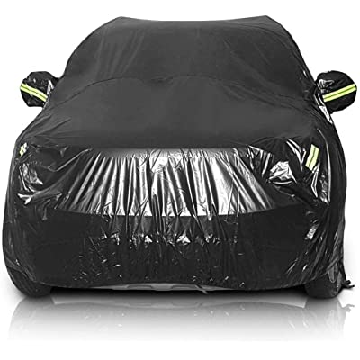 "Sailnovo Car Cover Waterproof All Weather SUV Car Covers for Automobiles Car Sun Protection/Dustproof/Scratch Resistant Cover Full SUV Covers Outdoor Indoor for SUV up to 191"" Lx75''Wx73''H, Black: Automotive"