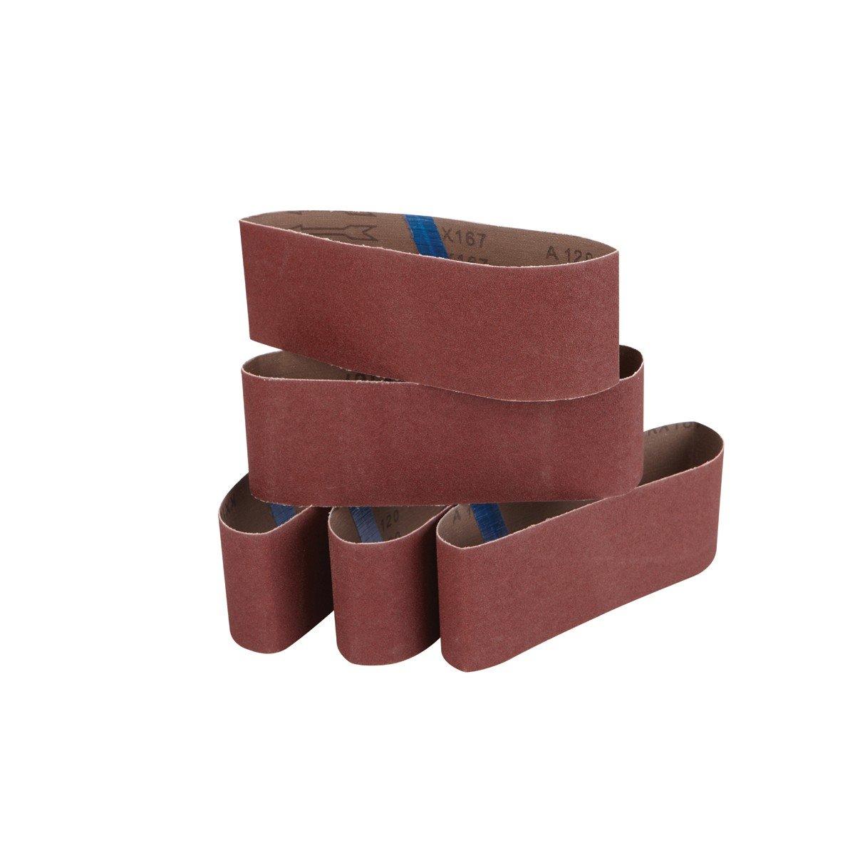 3 in x 21 in 120 Grit Sanding Belt 5 Pc