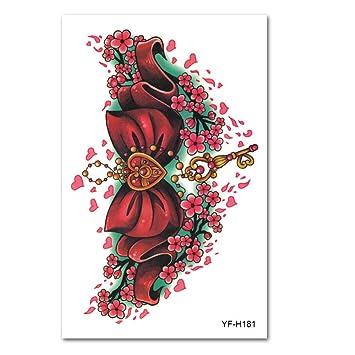 Pegatinas para tatuajes con el brazo de la flor color del tatuaje ...