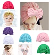 8 Pcs Baby Toddler Bow Hat Gold Crown Lace Headband For Toddlers Baby Crawling Knee Pads