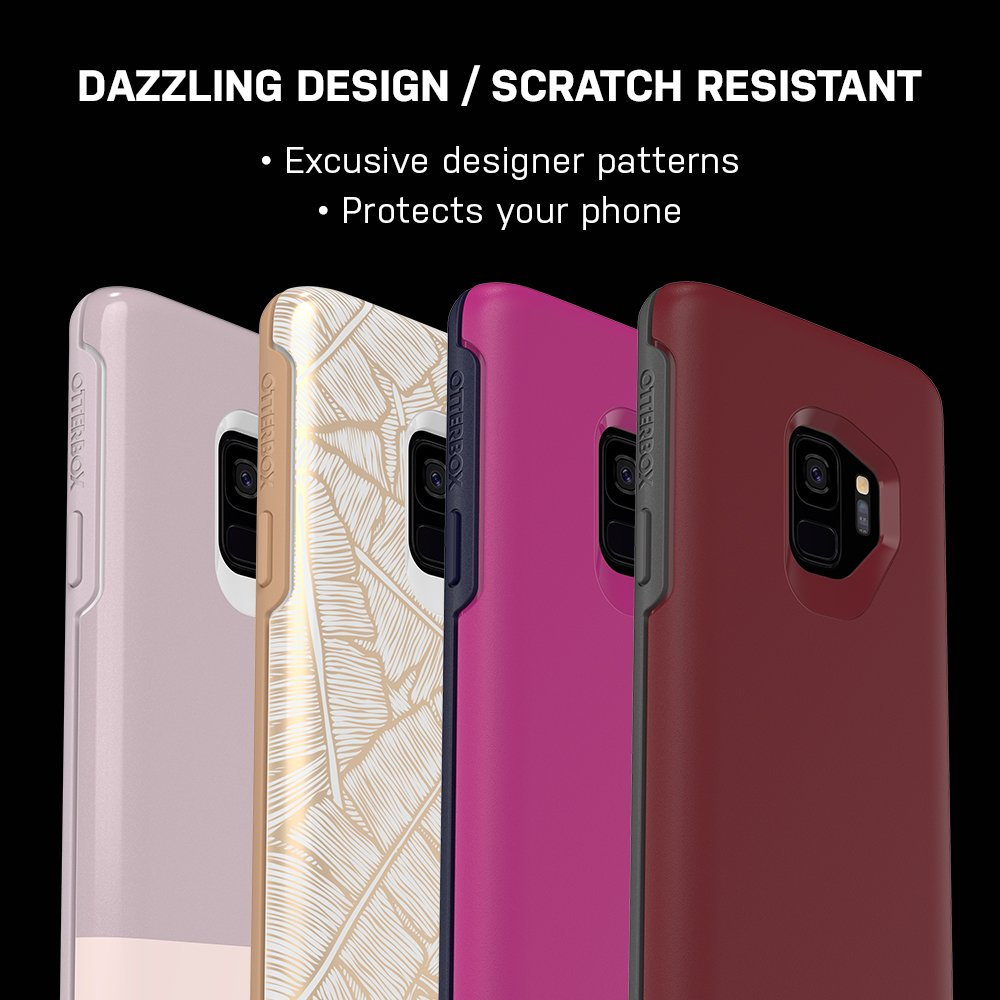 a6849c3d043 OtterBox Symmetry Series Case for Samsung Galaxy S9 - Frustration Free  Packaging - FINE Port (Cordovan/Slate Grey) - 77-57887 - tibs