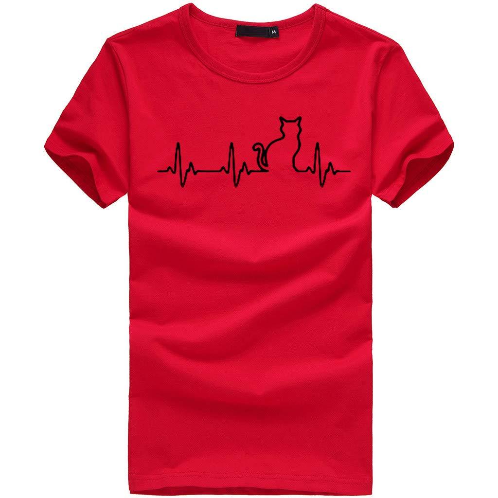 T Shirts for Women,Pocciol Women Girls Plus Size Print Tees Shirt Short Sleeve T Shirt Blouse Tops Pocciol T Shirt