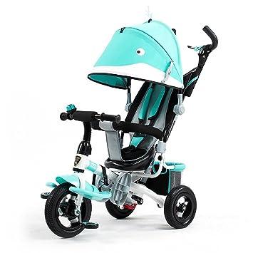 BBZZZ Niños Carros de triciclo Carritos de bebé Niño Bicicletas 3 Ruedas