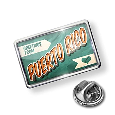 Amazon pin greetings from puerto rico vintage postcard lapel pin greetings from puerto rico vintage postcard lapel badge neonblond m4hsunfo