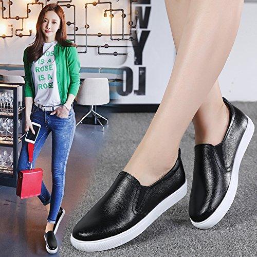 KPHY Frühjahr Frühjahr Frühjahr Und Herbst Zeit Glücklich Schuhe Flache Schuhe Flachen Boden - Schuhe Casual Schuhen Faul Schuhe Die Schuhe Leder Schuhe. 93f752