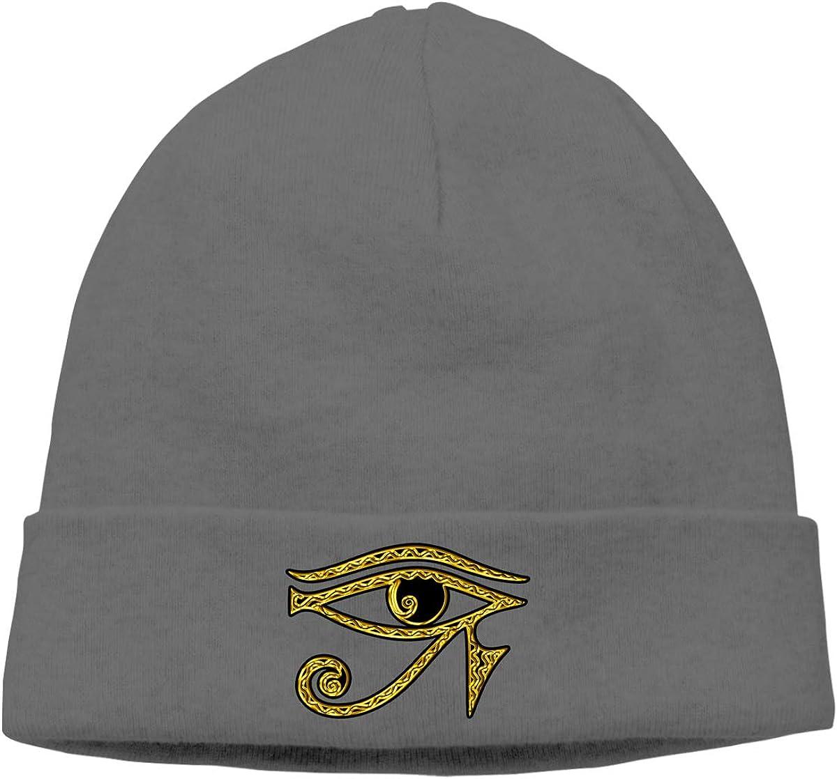 Riokk az Eye Horus Reverse Knit Cap Beanie Skull for Mens Deep Heather