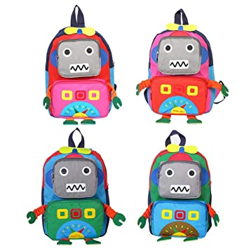 99588b0979bf Toddler Backpack for Little Kids Water Resistance Kindergarten Preschool  Robot Bags Children Schoolbag Cute Animal Cartoon