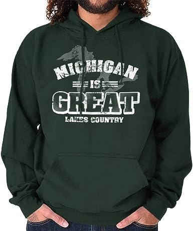 Michigan Great Lakes State Fashion Souvenir Womens Hooded Pullover Sweatshirt