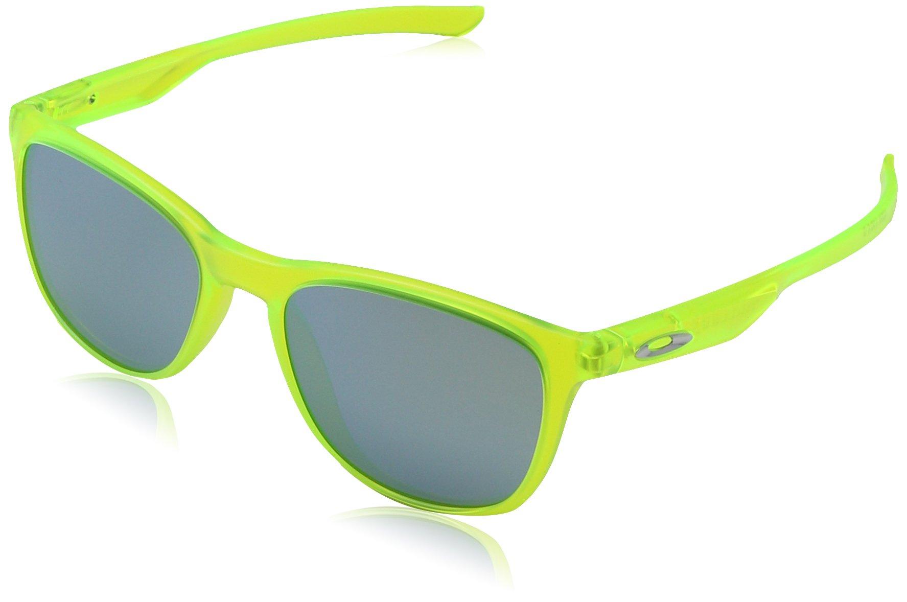 Oakley Men's Trillbe X Non-Polarized Iridium Rectangular Sunglasses MATTE URANIUM 52 mm